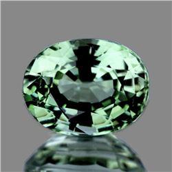 Natural Ceylon Green Sapphire 6x5 MM  {Flawless-VVS1}