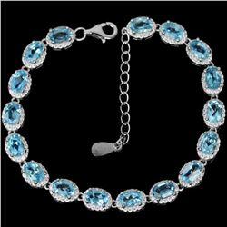 Natural AAA SWISS BLUE TOPAZ  Bracelet