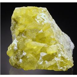 Natural Yellow Sulphar Crystal from Sicily