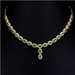 Natural Stunning Columbian Emerald Necklace