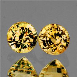 NATURAL ORANGISH YELLOW SAPPHIRE PAIR - FLAWLESS