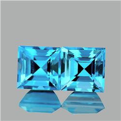 Natutal Sky Blue Topaz Pair 7.00 MM {VVS1}