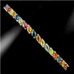 Natural Fancy Marquise Multi Color Sapphire Bracelet