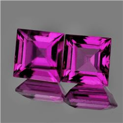 Natural Pink Purple Rhodolite Garnet Pair - FL