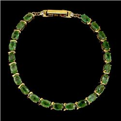 Natural Columbian Green Emerald 61.35 Ct Bracelet