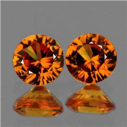 Natural Golden Yellow Sapphire Pair 4.20 MM - VVS