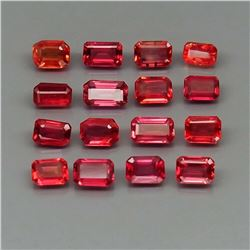 Natural Imperial Red Sapphire 20Pcs/5.35Ct.