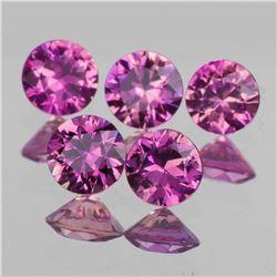Natural Magenta Purple Sapphire 5 Pcs - VVS