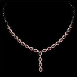 Stunning Oval Red Ruby 103.63 Cts Necklace