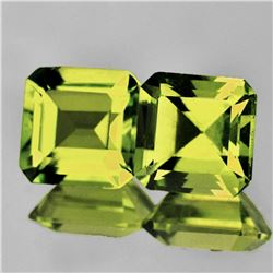 Natural Green Gold Lemon Quartz Pair{Flawless-VVS1}