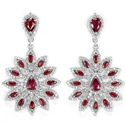 Natural RED RUBY PEAR-MARQUISE Earrings