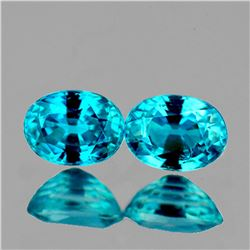 Natural Top Seafoam Blue Zircon Pair Flawless