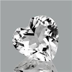 NATURAL DIAMOND WHITE AQUAMARINE HEART 2.08 CT - FL