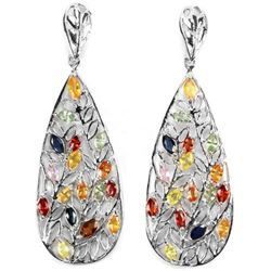 Natural Marquise  MULTI COLOR SAPPHIRE Earrings