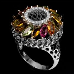 Natural Fancy Tourmaline 35 Carats Ring