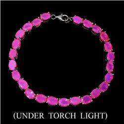 Natural Ethopian Pink Opal 68.24 Cts Bracelet