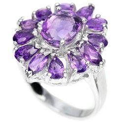 Natural Purple Amethyst 35 Carats Ring