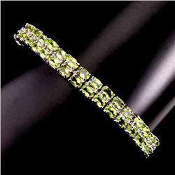 Natural Top Rich Green Peridot Bracelet