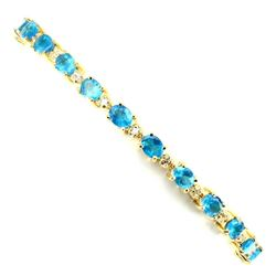 Natural Oval 5x4mm Aaa Neon Blue Apatite Bracelet