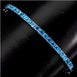 Natural Rare AAA Brazil Neon Blue Apatite Bangle
