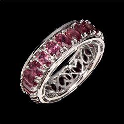 Natural Top Rich Pink Tourmaline Ring