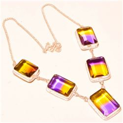 Gorgeous 108 Ct. Ametrine Necklace