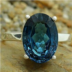 BEAUTIFUL 5 CT LONDON BLUE TOPAZ RING