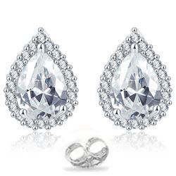 3.25 CENTER  STONE DIAMOND EARRINGS