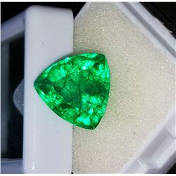 BEAUTIFUL CERTIFIED 7.55CT COLOMBIAN EMERALD