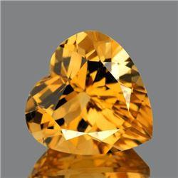 NATURAL GOLDEN ORANGE CITRINE Heart 11 MM - FL