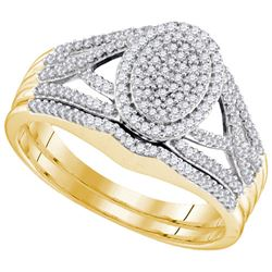 10K Yellow-gold 0.40CTW DIAMOND MICRO PAVE BRIDAL RING