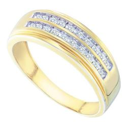 14KT Yellow Gold 0.25CT DIAMOND FASHION MENS BAND