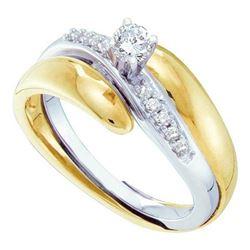 10KT Yellow Gold Two Tone 0.25CTW DIAMOND LADIES BRIDAL