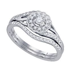 10KT White Gold 0.25CT DIAMOND BRIDAL SET
