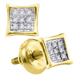 Yellow-tone Sterling Silver Unisex Round Diamond Kite C