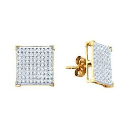 10KT Yellow Gold 0.50CTW DIAMOND MICRO PAVE EARRINGS