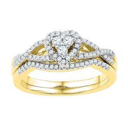 10K Yellow-gold 0.38CTW DIAMOND BRIDAL SET