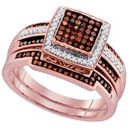 10KT Rose Gold 0.40CTW DIAMOND MICRO-PAVE BRIDAL SET