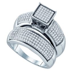 925 Sterling Silver White 0.63CTW DIAMOND MICRO PAVE BR