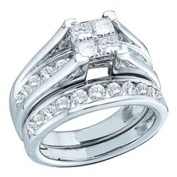 10KT White Gold 0.52CTW DIAMOND BRIDAL SET