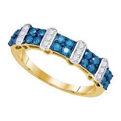 10K Yellow-gold 0.70CT DIAMOND FASHION RING