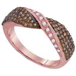 10KT Rose Gold 0.53CTW DIAMOND FASHION BAND