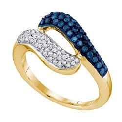10K Yellow-gold 0.50CT BLUE DIAMOND FASHION RING
