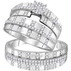 10KT White Gold 0.65CTW DIAMOND FASHION TRIO SET