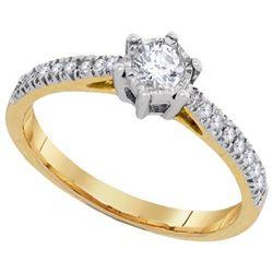 10KT Yellow Gold 0.33CTW DIAMOND 0.20CT-CRD BRIDAL RING