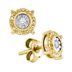 925 Sterling Silver Yellow 0.10CTW DIAMOND FASHION EARR