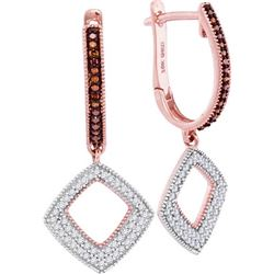 10KT Rose Gold 0.40CTW RED DIAMOND FASHION EARRING