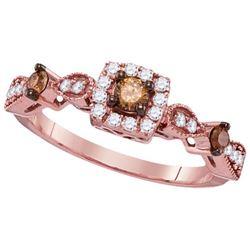 14KT Rose Gold 0.50CTW-Diamond FASHION RING