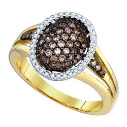 10KT Yellow Gold 0.53CT COGNAC DIAMOND FASHION RING