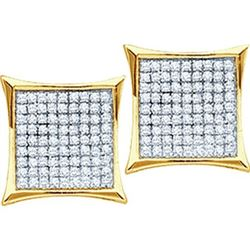 925 Sterling Silver Yellow 0.05CTW DIAMOND MICRO-PAVE E